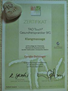 Zertifikat TAO Touch Gesundheitspraktiker (2)